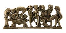 Figurine Bas reflief erotique Kamasutra en laiton Inde Betise Curiosa C9D K021