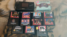 Sega Genesis Nomad Portable Console MK-6100 Bundle / Lot with 11 Games *Used*
