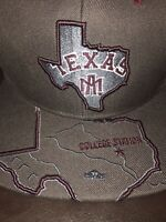 Texas A&M Aggies NCAA Zephyr Map Snapback Hat Cap NEW College Station