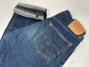 Vintage Levi's 551Zxx Big E redline Selvedge Denim Men's Size 36 Gripper Zipper