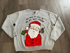 Christmas Sweater Ugly Party You Used to Call Me On My Elf Phone Sz Medium Gray