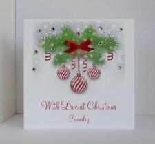Tarjeta de Navidad con las piedras preciosas compra más ahorra en franqueo personalizado hecho a mano