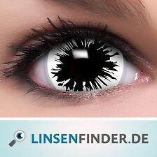 """Mini Sclera Lenses """"Shot"""" weiße Kontaktlinsen Crazy Farbige Halloween Linsen"""