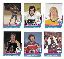 1977-78 OPC WHA Hockey:Lot of 6 different