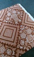Sandersons Curtain Fabric. 4 x Metres. 124 cm wide. Brown patterned.