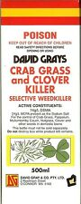 Crab Grass Clover Killer Weed Spray 500mL David Grays Lawn Turf Paspalum Kill