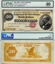 1882 $20 Gold Certificate FR-1178 PMG Graded