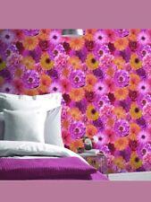 2 Rolls Arthouse Foil in Bloom Flower Pattern Wallpaper Floral Metallic Vinyl