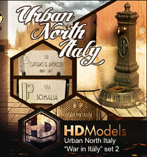 "HDMODELS HDM002 War in Italy set 2 ""Urban north Italy"" scala 1/35"