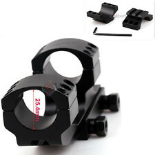 "New PEPR 1"" Cantilever Flat Top Rifle Scope Rings Picatiiny Rail Mount Fr Burris"
