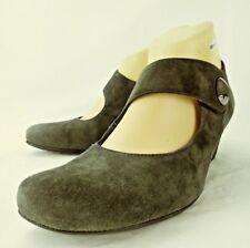 luftpolster Womens Shoes Mary Janes US 8.5 Gray Suede Hook Loop Heels 5559