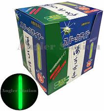 50pcs x High Quality Fishing Glow Bright Stick Chemical Light (Green) 75mm