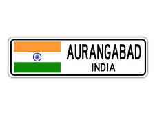 Aurangabad, India Street Sign Indian Flag City Country Road Wall Gift