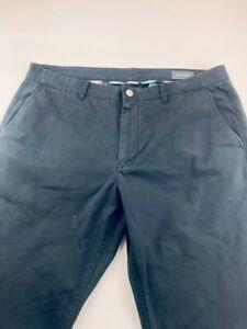 Bonobos Mens Straight Leg Pants Black Pocket Flat Front 100% Cotton 38 x 34