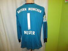 "FC Bayern München Adidas Torwart Trikot 2013/14 ""-T---"" + Nr.1 Neuer Gr.S- M Neu"