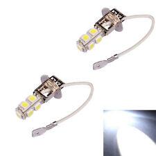 2x H3 9 LED SMD Car Auto Xenon White Fog Driving Head Light Lamp Bulb DC 12V HOT