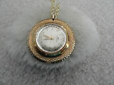 Swiss Made Vintage Wind Up Villereuse Necklace Pendant Watch