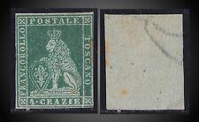 1853 - 1855 TUSCANY - TOSKANA 4 CRAZIE GREEN , MINT HINGED   SCT. 6 MI.6ya