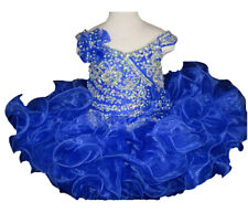 Flower Baby Girls Beaded Ball Gowns Mini Cupcakes Kids Tutu short Pageant Dress