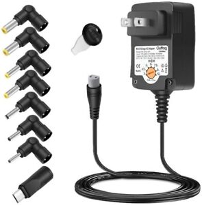 15W Multi Volts Switching Replacement Power Supply Cord for Universal AC Adapter