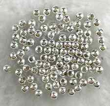400Pcs 3mm Silver Plated Metal Spacer Loose Beads