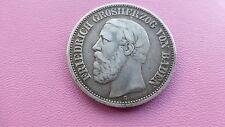 German silver 2 mark coin 1892 Friedrich 1  very rare 107.000 minted   Ref 497