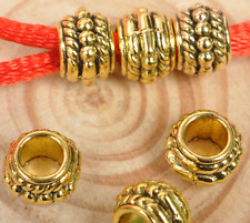 050pcs Antique Gold big hole Jewelry finding Making Spacer /Beads 8mm