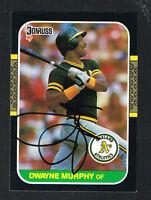 Dwayne Murphy #379 signed autograph auto 1987 Donruss Baseball Trading Card