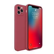 Para iPhone 11 12 Pro Max XS XR 8 7 Plus Colores Funda Silicona Líquida Cuadrada