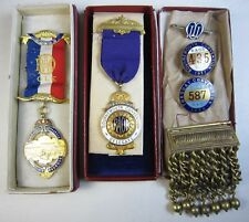 Lot 1930s RAOB Royal Order of Buffaloes Ribbon Medal Convention Pin Epaulette