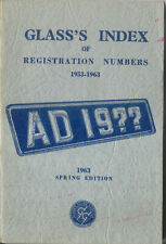 Glass's Index of Registration Numbers 1953-1963 Spring Edition 1963