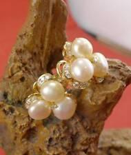Herrlicher Perlen Brillant Ohrschmuck in 750 Gelbgold