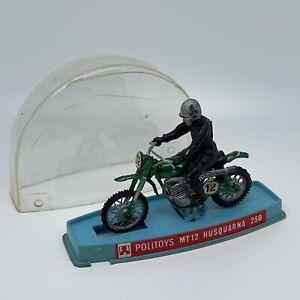 POLITOYS 1/18 MT12 Husquarna 250 moto motorcycle miniature (pour pièces)