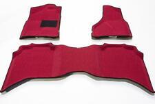 3D ALBERMO FLOOR MAT DODGE RAM-1500, 2500, 3500- CREW-CAB  2011-2012 RED