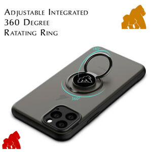 Gorilla Case with Finger Ring Stand For iPhone 12 11 Pro Max 10 XS XR 8 7 Plus
