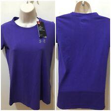 Under Armour Heatgear Girls Purple Size L Short Sleeve T-shirt NWT #1332636-530