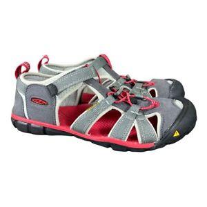 Keen Seacamp II CNX Magnetic Gray Racing Red Sandals 1014126 Big Kids 7