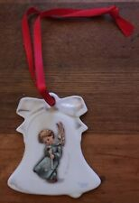 Goebel Porcelain Hanging Bell Shaped Angel Christmas Tree Ornament Germany