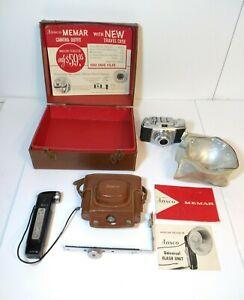 Vintage Ansco MEMAR Pronto Camera W/ Original Box Untested