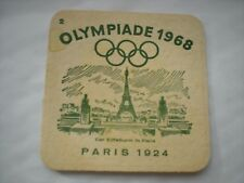 A Rare Hemelinger OLYMPIADE 1968 Drinks Carboard  Drinks Mat