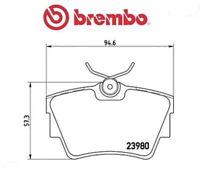 P59041 Kit pastiglie freno, Freno a disco (MARCA-BREMBO)
