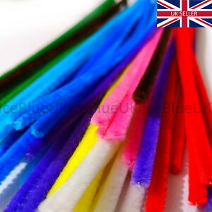 Craft Pipe Cleaners 50 Assorted Colours 30cm x 6mm High Quality Chenille Stems