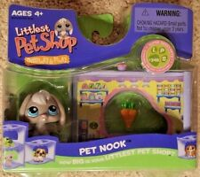 Littlest Pet Shop Display & Play Pet Nook & Gray Rabbit #346 Hard to find