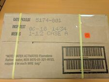 Genuine US Military MRE Sealed Case B - 6/2018 Inspection Date