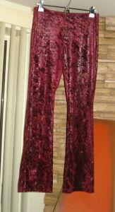 Velvety snakeskin Bootcut Flare Bell bottom Pants