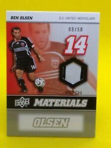 Ben Olsen 2008 Upper Deck Materials GAME-USED PATCH #MM-3 D.C. United ***8/50***