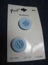 ANTIQUE/VINTAGE PACIFIC PARTIAL CARD 2 TONED POWDER BLUE LUC/PLAS BUTTON QTY 2