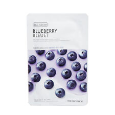 The Face Shop Real Nature Grinding Mask Blueberry Moisturizing1pc Korea Cosmetic