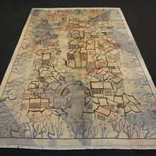 Designerteppich China Seide 274 x 181 cm Orient Teppich Handgeknüpft Silk Rug