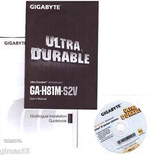 DRIVER CD + MANUALE x scheda madre main board GIGABYTE GA-H81M-S2V